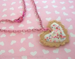 Heart Shaped Cookie Necklace by CantankerousCupcake