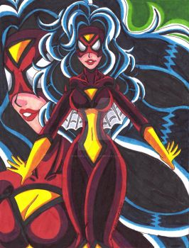 Top 13 Comic Book Women: #10 Spider-Woman by d13mon-studios