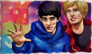 Merlin and Arthur by Greenticky
