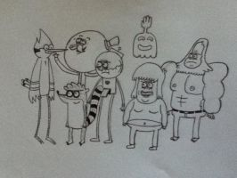 Regular Show Character Sketches by IceMan822