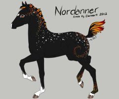 Nordanner Foal Design For Mishranna's Contest by Ikiuni