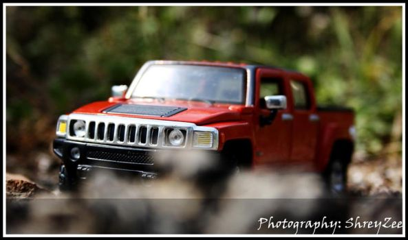 hummer scale model by shreyzee