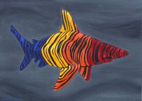 Painted Shark by MegLyman