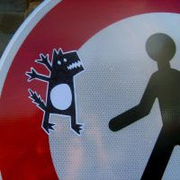 Sticker - The Wolf by Spank-the-racoon
