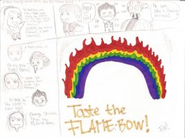 Taste the Flamebow by LaceX-Foxypowow