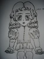 Chibi Amadeo not coloured by Eadlin