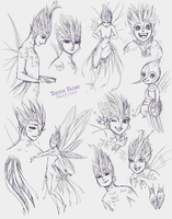 Tooth Fairy Sketches by LadyDeadPooly