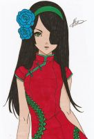 Lady Rose Dragon Colored by Maiko-Girl