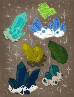Collection of Crystals by Malliya