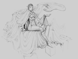 random exercise  #045555 queen of drapes by p00se2