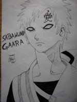Gaara looking dangerous by Shadow-Hunter-o0o