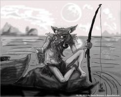 Wulver Fishing by spaceodd