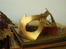 Gold Leather Mask by nondecaf