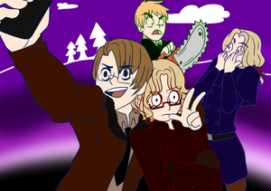 [Draw the FACE!] APH FACE Family|RoseThornCam14 by rosethorncams14