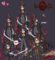 Bayonetta Chibis by Autumnology