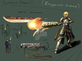 Pyrotechnic Polearms concept by JereduLevenin