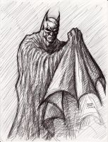 Batman pen sketch 1-24-2013 by myconius