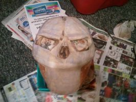 Death  Paper mache process by ChupaCabraThing