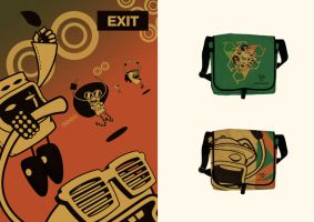 Exit Shop - Poster and Bag by linnch