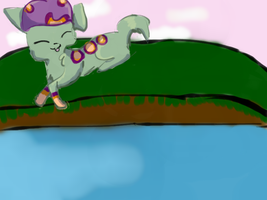Chillin by the Water *Racotaco's request* by WaitingforWaffles