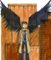 Supernatural - Castiel by Lottie3