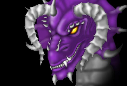 one more purple dragon by Loofen