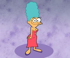 Marge in John K.'s Style by Cookie-Lovey