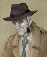 Nick Valentine by ShinyStrawberry