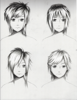 Male Hairstyles practice 1 by ShenGoDo