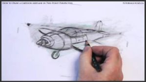 Learn How To Draw A Cartoon Airplane 033 by drawingcourse
