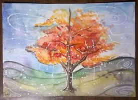 Maple - Ten Days of Trees ATC by LimehouseBlues