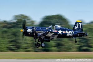 Corsair Departing by Chris Buff by aviationbuff