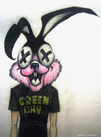 Green Day Bunny by PandorasBox341