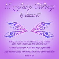 15 Fairy Wings - ready to use by dianar87