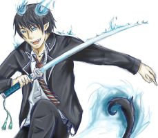 Ao No Exorcist Rin by one-who-draws