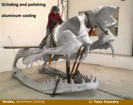 Aluminum Sculpture Snake by OwenTany