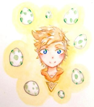 Spark and his eggs by Kuku-Sankyu