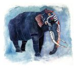 Painted elephant by Duffzilla
