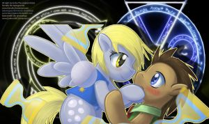 photoshop/ playmat 10 Derpy and The Doctor by DarkmistRD