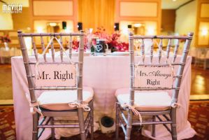 Ari and Laura Wedding Chairs by MavilaPhotography