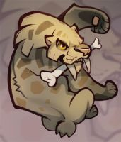 Smilodon Sticker by skulldog