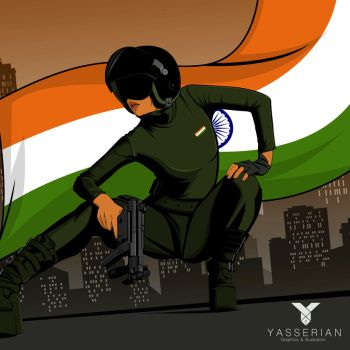 indepedence day... Jai Hind by yasserian
