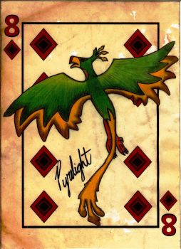 FOE Playing Card - 8 of Diamonds - Pyrelight by KindofBoring