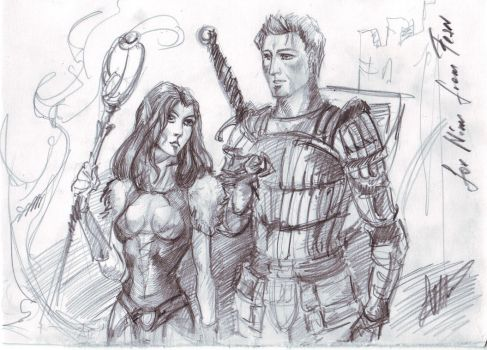 Riannon and Alistair by Righon