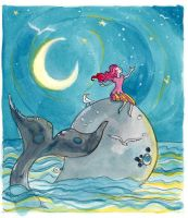 Kids Book Princess and the Whale by shadowgirl