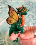 Green and Orange Butterfly Dragon by DragonsAndBeasties