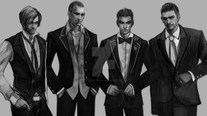 Resident Evil Men In Suit by heatheryingNL