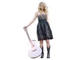 Taylor Swift with guitar PNG by H-a-n-n-a