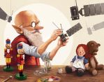 Norman Rockwell Tribute by Sarafinconcepts