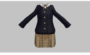 MMD Winter School set -updated- by amiamy111
